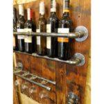 wieszak ścienny na wino i kieliszki