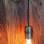 Kinkiet w kolorze patyny, lampa ścienna