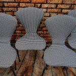 Krzesła w pepitkę – komplet 4 sztuki – lata 70
