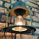 Stara lampa okrętowa, lampa vintage