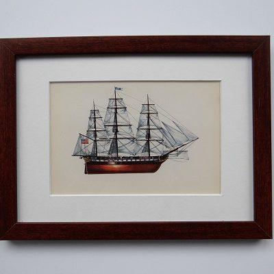 Oprawiona karta – historyczne statki #1