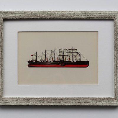 Oprawiona karta – historyczne statki #10