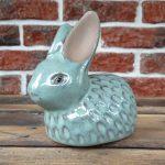Ceramika – turkusowy zajączek