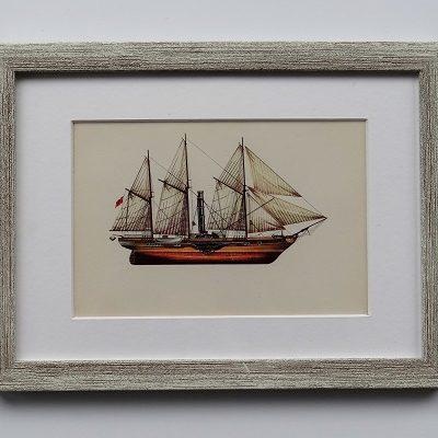 Oprawiona karta – historyczne statki #12