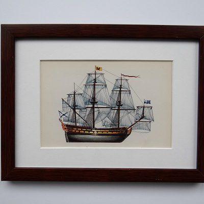 Oprawiona karta – historyczne statki #2