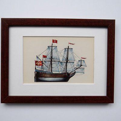 Oprawiona karta – historyczne statki #3