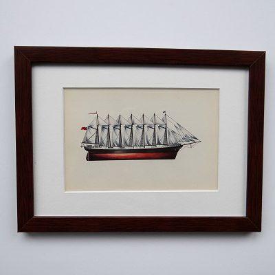 Oprawiona karta – historyczne statki #4