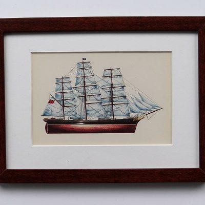 Oprawiona karta – historyczne statki #6