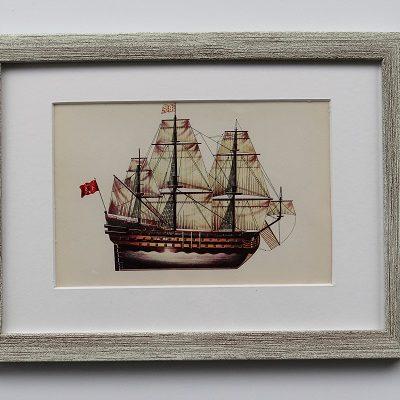 Oprawiona karta – historyczne statki #8