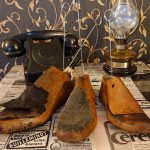 Stojak na karteczki -dekoracja z drewna