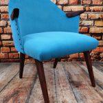 Fotel tapicerowany PRL lata 60