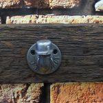 Wieszak loft z żeliwnymi hakami #123