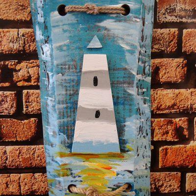Dekoracja vintage – wieszak drewniany – latarnia morska (Kopia)